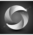 Moebius origami gray and white paper circle vector