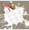 Calendar for 2012 on abstract background vector