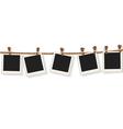 Blank photo frames on line vector