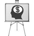 Dollar brain of a man vector