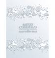 White merry christmas and happy new year greeting vector