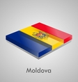 European flags set - moldova vector