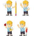 Blonde rich boy customizable mascot 14 vector