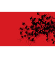 Tree branches over red vector