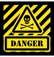 Danger sign yellow and black vector