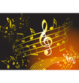 Golden music theme vector