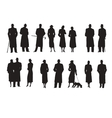 Set of silhouettes characters retro vector