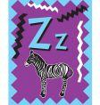 Flash card z vector