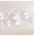Satellite plate icon vector
