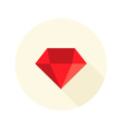 Christmas red diamond flat icon over white vector