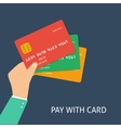 Flat plastic card vector