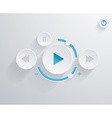 Flat multimedia player for web and mobile apps vector