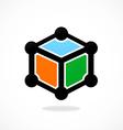 Box cube data technology logo vector