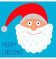Face of santa claus snowflakes merry christmas vector