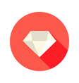 Christmas white diamond flat icon over red vector