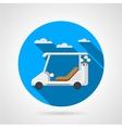 Golf car flat icon vector