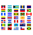 Flags of the americas vector