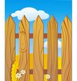 Rustic wooden fence vector