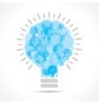 Blue light bulbs form a big bulb vector