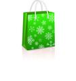 Christmas creen shopping bag vector