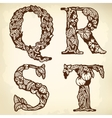 Set of letters qrst vector