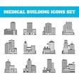 Medical building black vector
