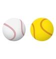 Baseball and softball balls vector