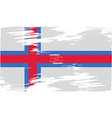 Flag of faroe islands with old texture vector