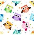 Owls pattern vector
