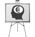 Euro brain of a man vector