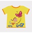 Girl flying butterfly vector