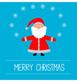 Cartoon santa claus and snowflakes merry christmas vector