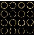 Laurel wreaths collection vector