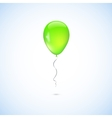 Green balloon isolated on white background vector