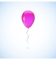 Pink balloon isolated on white background vector