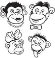 Monkey family vector