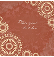 Vintage banner with floral lace vector