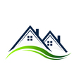 Houses real estate logo vector