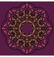 Stylized flower mandala like oriental design in vector