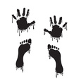Handprint and footprint vector
