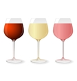 Set of wine glasses vector