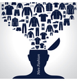 Men s fashion background set of clothing icons vector