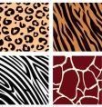 Animal patterns vector