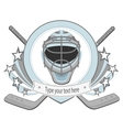 Ice hockey labels badges vector