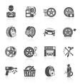 Tire service icon black vector