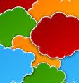 Paper color paper cloud background vector