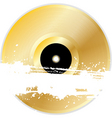Black vinyl disk with grunge splats and brush stro vector