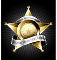 Sheriff badge vector