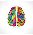 Creative brain with paint strokes vector