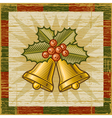 Retro christmas bells vector